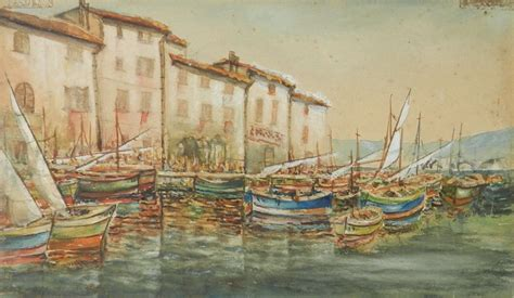 boat dealers port alfred original painting signed watercolour study of st tropez
