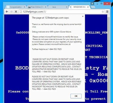 edge virus warning neowin forums remove quot windows warning error quot virus support scam