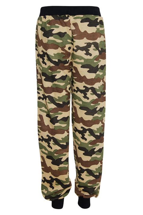 pattern for jogging pants womens sports baggy army camo pattern running gym jogging