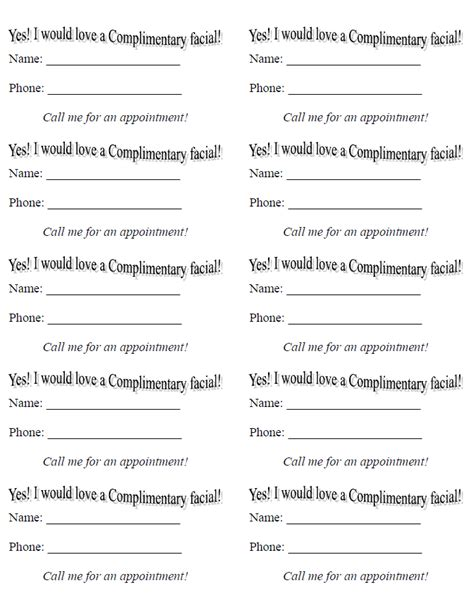 enter to win form template drawing slips template