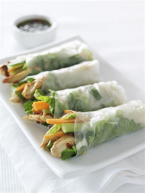 How To Make Chicken Rice Paper Rolls - chicken rice paper rolls