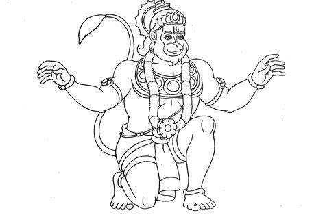 Hanuman Coloring Pages simple hanuman coloring coloring coloring pages