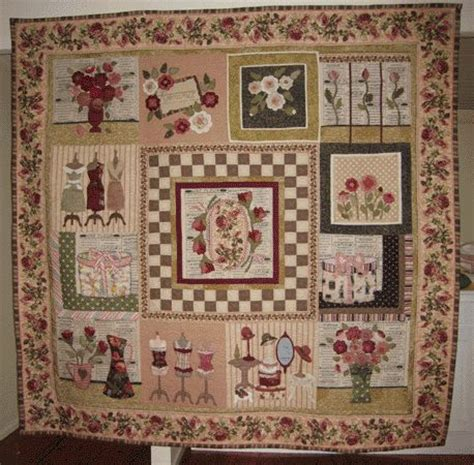 Cottage Patchwork - postcards from pattern i applique quilts