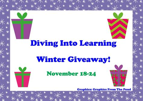 Winter Giveaway - diving into learning winter giveaway