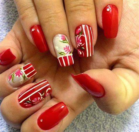 imagenes decoracion uñas rojas sensacionales u 241 as decoradas con esmalte rojo juveniles