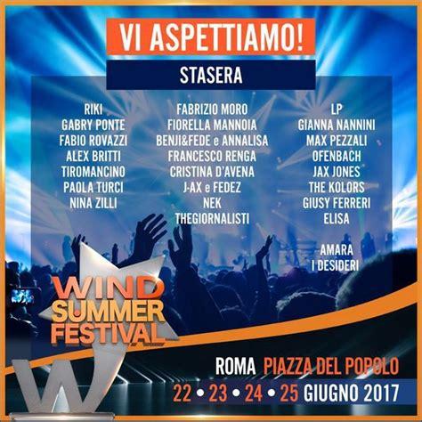 wind summer festival 2017 diretta prima serata 22