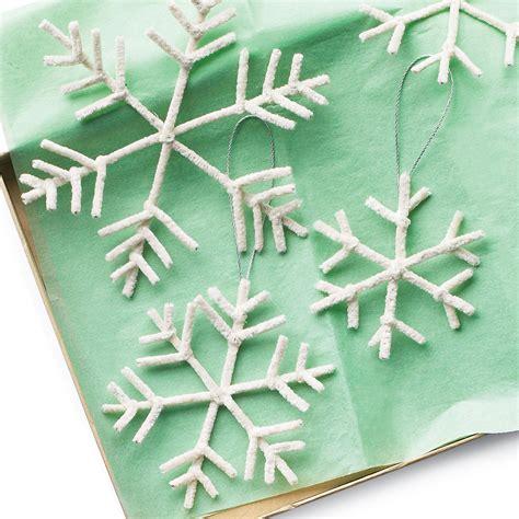diy ornaments martha stewart pipe cleaner snowflake ornaments martha stewart