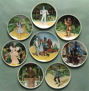 Wizard of oz plates by edwin m knowles china co art by artist james