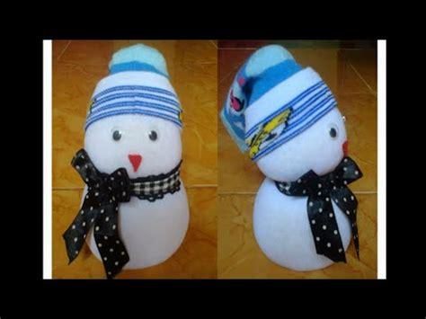 cara membuat boneka yakult cara membuat boneka salju youtube