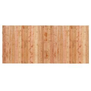 3 1 2 ft h x 8 ft w cedar flat top privacy fence panel