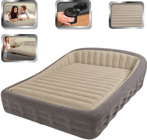 comfort air bed reviews intex luxury comfort frame queen size airbed with electric