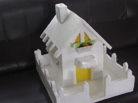 how to make thermocol bungalow house model school project how to make a thermocol model house model 1 youtube