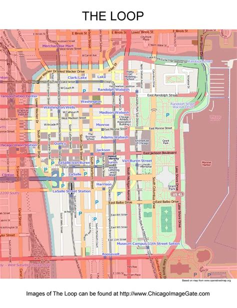 chicago loop map chicago community area maps