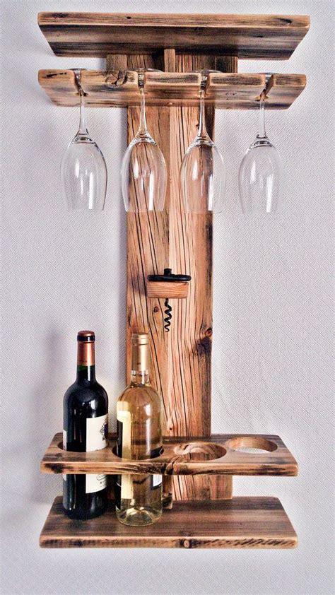 rustic wood wine rack wine shelf wine bottle holder