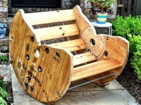 wooden spool rocking chair recycled spool rocking chair the owner builder network