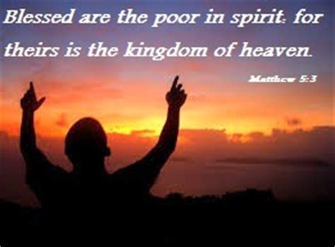quotes and sayings blessed are the poor in spirit