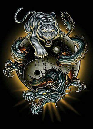 ying yang tiger dragon picture dragons pinterest