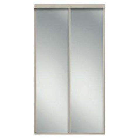 Home Depot Mirrored Closet Doors Mirror Door Sliding Doors Interior Closet Doors Doors The Home Depot