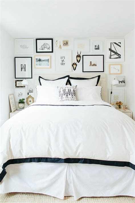 Apartment Bedroom Wall Decor 9 Ways To Decorate Above A Bed The Inspired Room