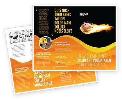 basketball c brochure template flaming basketball brochure template design and layout