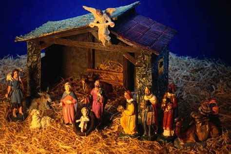christmas kudil set online baby jesus stolen from stoke on trent pub roof nativity display mirror