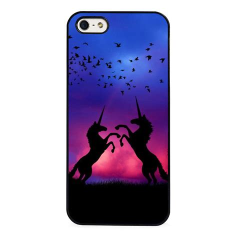 Iphone 5 Unicorn unicorn magical fairytale sunset phone cover fits