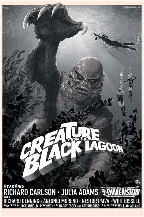 the from the black lagoon inside the rock poster frame stan vince creature