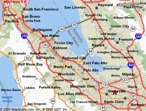 south san francisco kaiser map national semiconductor is located in the san francisco