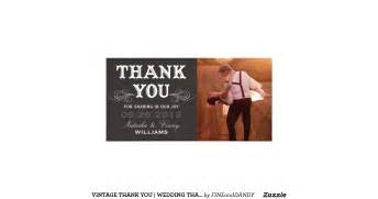 vintage thank you wedding thank you card personalized photo card zazzle