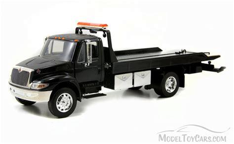 flat bed tow truck international durastar 4400 flat bed tow truck black