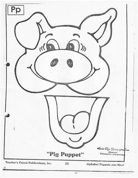pig puppet template 146 best titeres images on paper bag puppets