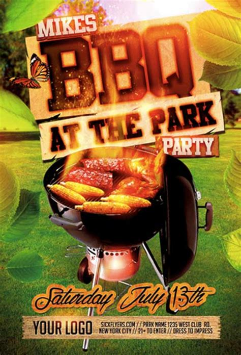 Downoad 20 Tasty Bbq Event Flyer Templates Bbq Flyer Template Free