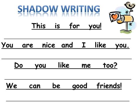 Kindergarten Sentence Writing Worksheets by For The Of Kindergarten New Shadow Writing Freebie