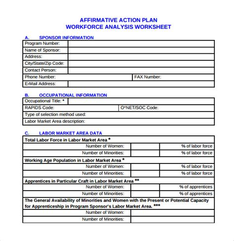 sample affirmative action plan 9 documents in pdf