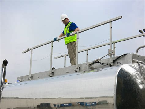 Safety Handrails Oilmen S Truck Tanks Offers Aftermarket Safety Rail System