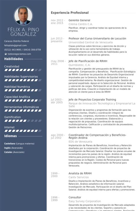 Ejemplo Curriculum Gerente De Recursos Humanos Gerente General Ejemplo De Curr 237 Culum Base De Datos De