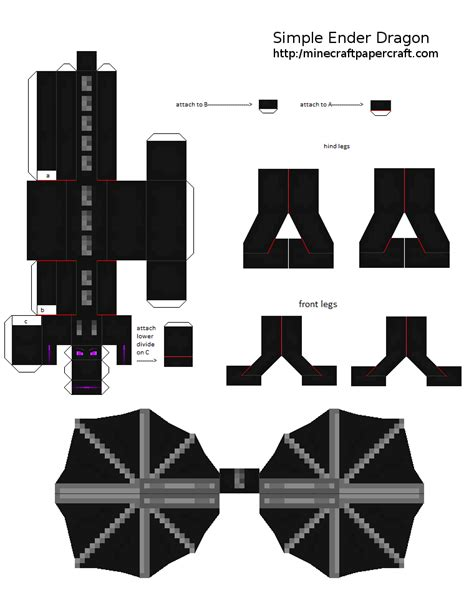 Papercraft Designs - papercraft simple ender improved model