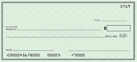 check open blank check with open space for your text stock