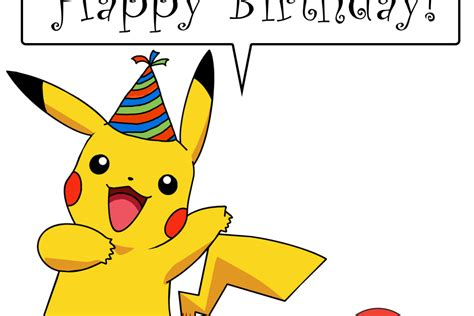 pikachu birthday card template happy birthday geektoll