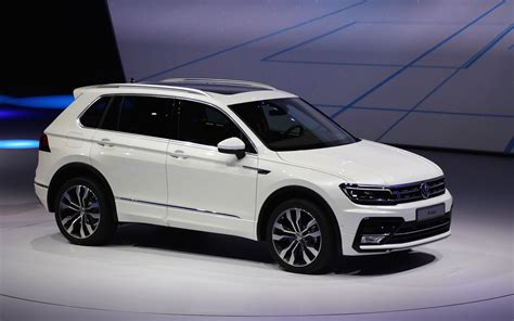 volkswagen suv white 2018 vw tiguan suv aims for u s with third row higher mpg