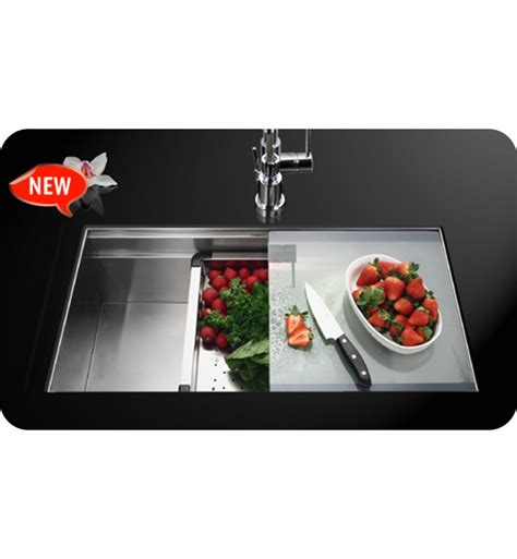 kitchen sink cover houzer nvs 5200 single basin undermount stainless steel