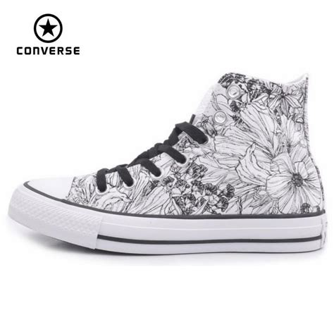 Original Converse Clasic Black White original converse all shoes high s sneakers canvas for manual graffiti black white