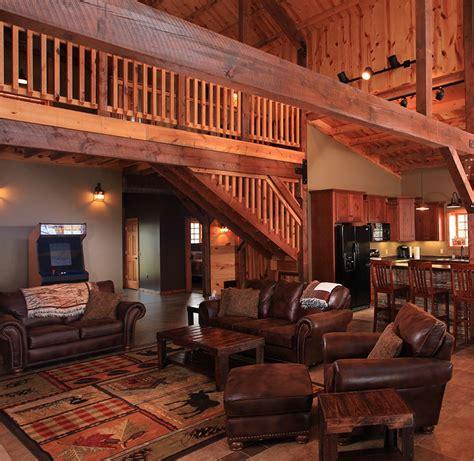 Barn Home Interiors by Post Beam Barn Homes