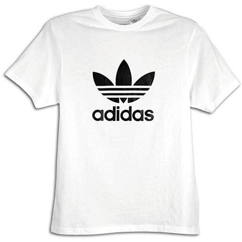 Adidas Black Tshirt Kaos adidas originals trefoil s s logo t shirt s casual