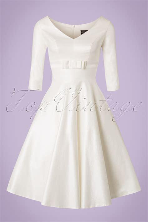 white swing dress wedding 50s dorothy bridal swing dress in ivory