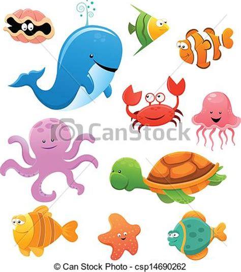 Ariel Wall Stickers clip art vector of sea animals collection of sea animals