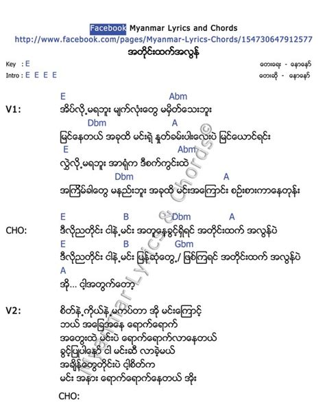 song lyrics and chords guitar guitar chords myanmar song guitar chords myanmar