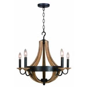 hton bay talo 5 light driftwood chandelier