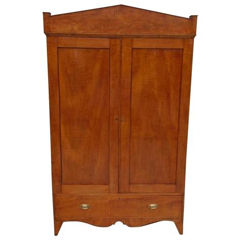 Maple Armoire by American Hepplewhite Tiger Maple Armoire Circa 1800 For Sale At 1stdibs