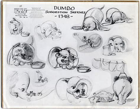 june 6 disneydetail disney dumbo animation model sheet dumbo timothy 1941